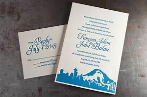 Seattle skyline wedding invitations pike street press for Wedding invitation printing seattle