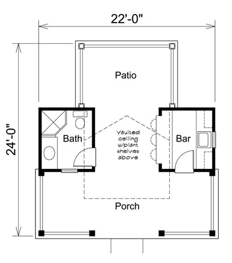 pool house plans with bathroom poolhouse plan 95938 at familyhomeplans com