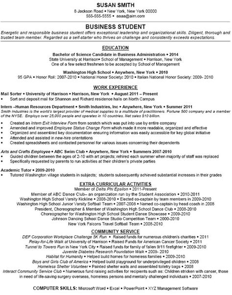 Planning Student Resume by Exle Extracurricular Activities Dfwhailrepair Resume Student Resume