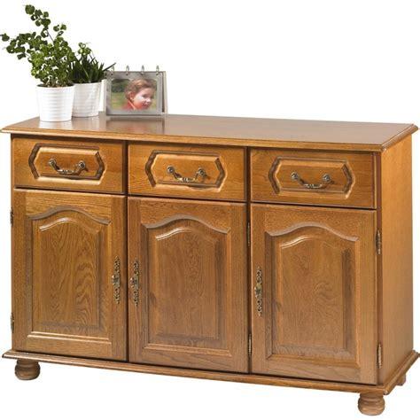 meuble cuisine 3 portes buffet bas chêne 3 portes 3 tiroirs beaux meubles pas chers