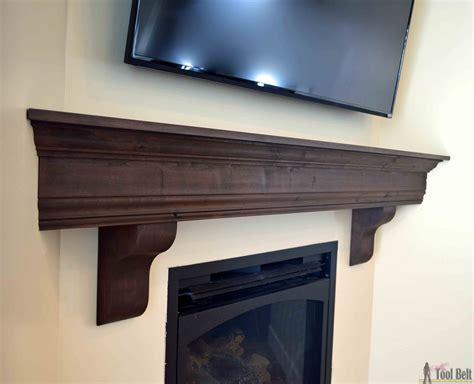 how to make a fireplace mantel diy fireplace mantel shelf tool belt