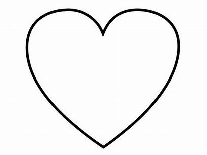 Heart Coloring Herz Shape Outline Blank Coeur