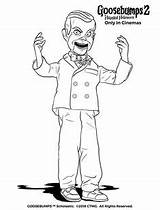 Coloring Slappy Goosebumps Play Dummy Halloween Crafts sketch template