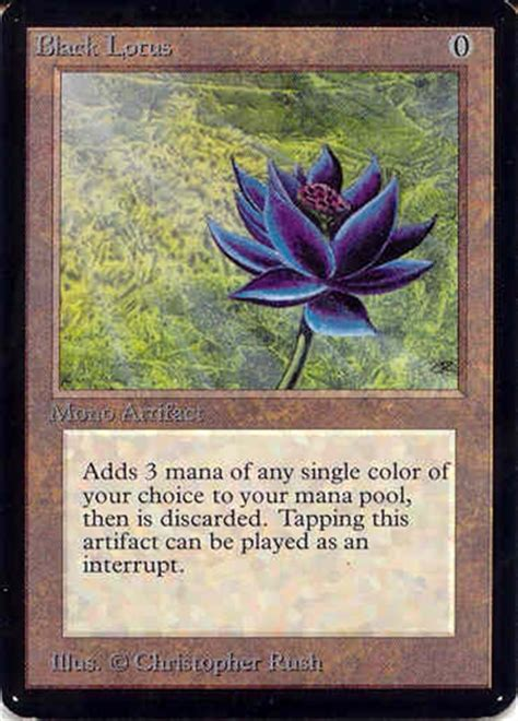 Magic The Gathering Alpha Single Black Lotus  Slight Play