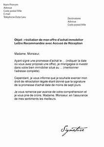 Promesse De Vente Voiture : lettre de r siliation promesse d 39 achat mod le de lettre ~ Gottalentnigeria.com Avis de Voitures