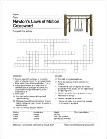 Newton's Laws of Motion Crossword Answer Key