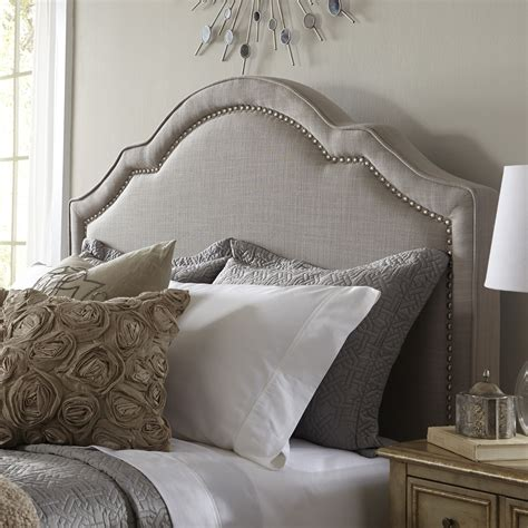 Headboard Upholstered by Shaped Nail Upholstered Headboard Headboards At