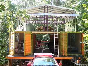 Nomadic Land Craft 40 Container Home With Courtyard Kasten ...