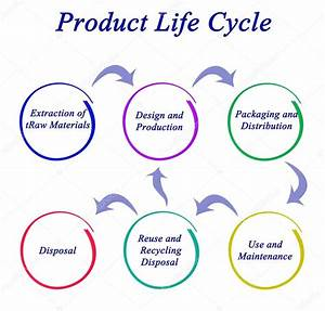 Diagram Of Product Life Cycle  U2014 Stock Photo  U00a9 Vaeenma