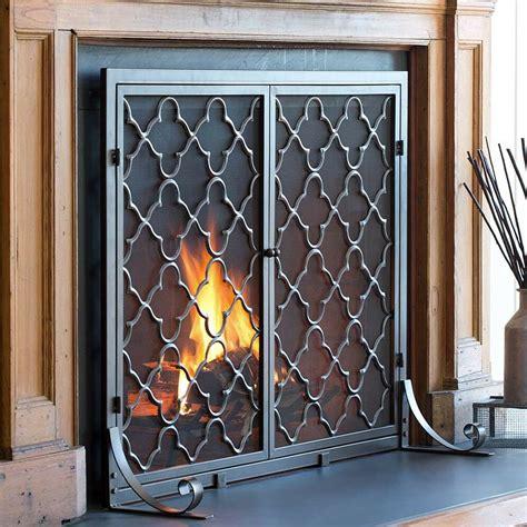 plow hearth  panel geometric fireplace screen reviews