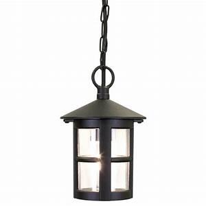 Circular, Hanging, Porch, Lantern, With, Small, Window, Bars, In, Black, Aluminium