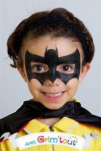 Maquillage Simple Enfant : carnaval tuto maquillage gar on batman ~ Farleysfitness.com Idées de Décoration