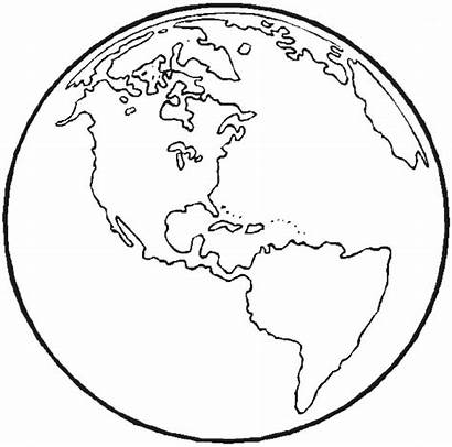 Earth Outline Clipart Coloring Clip Clipground Printable