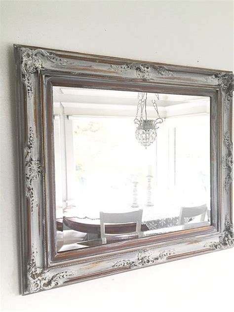 large wall mirror wood framed bathroom mirror antique