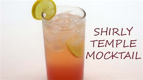 shirley temple recipe shirley temple mocktail recipe youtube