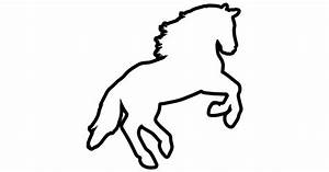 Horse jumping outline variant - Free animals icons