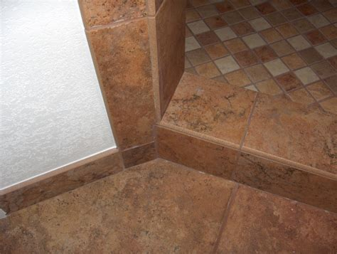 shower curb bullnosed on opposite edges bathroom tile