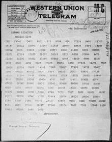 Zimmermann Telegram - Wikipedia