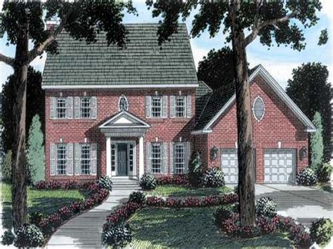 brick colonial house plans colonial house