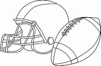 Football Clip Line Rugby Clipart Ball Coloring