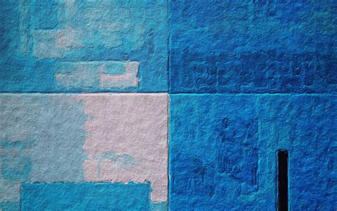 Monotype Print Wall Color Texture Blue Background HD
