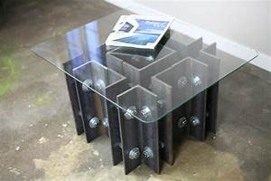 buy a hand crafted modern industrial coffee end table With custom metal coffee tables