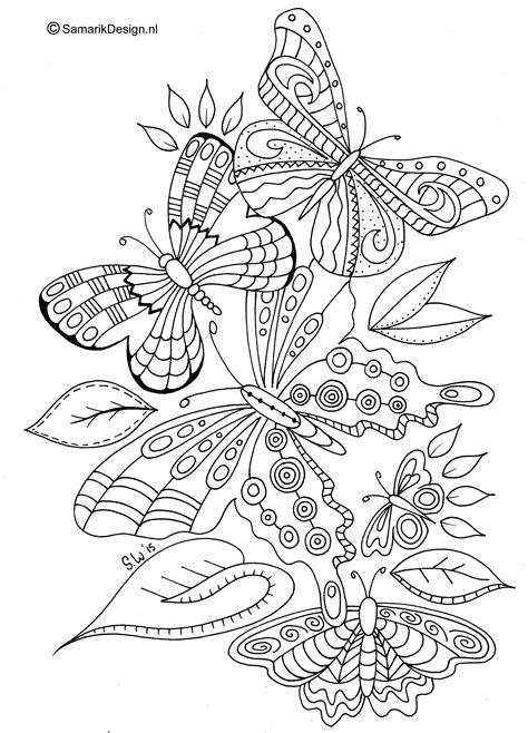 Kleurplaten Vlinders Volwassenen by Kleurplaat Voor Volwassenen Butterflies Kleurplaten