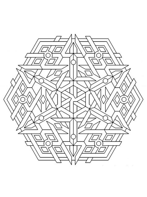 Geometric Design Coloring Pages Geometric Design Coloring Pages For Adults Free Printable