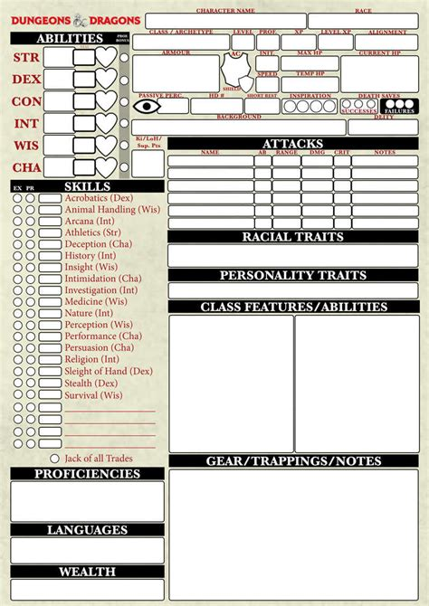 pathfinder advanced template dungeons dragons 5th edition character sheet santy s drivethrurpg