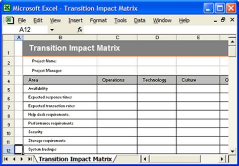 transition plan ms word template instant