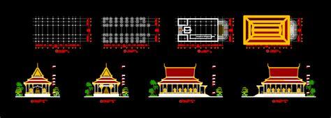 pagoda temple khmer  autocad cad   mb