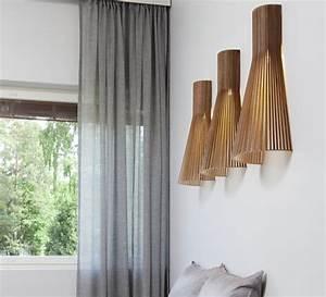 Applique Murale Moderne : applique murale 4230 noyer h60cm secto design luminaires nedgis ~ Teatrodelosmanantiales.com Idées de Décoration