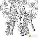 Coloring Colorir Adult Desenhos Printable Pintar Mandala Mandalas Heel Drawing Colorear Dibujos Therapy Coloriage Shoe Adulto Ausmalbilder Colouring Adultos Kleurplaten sketch template