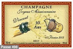 Etiquette Champagne Mariage : anniversaire dissaux brochot ~ Teatrodelosmanantiales.com Idées de Décoration