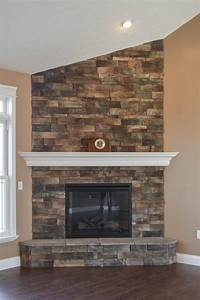 Stacked, Stone, Corner, Fireplaces, -, 1500, Trend, Home, Design