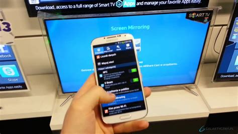 screen mirror iphone to samsung tv samsung galaxy s4 screen mirroring allshare cast pl eng