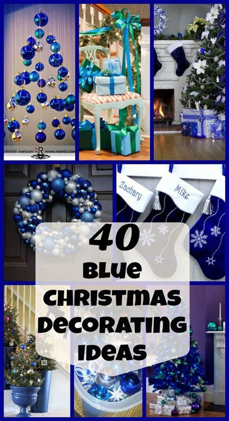 amazing blue christmas decorating ideas