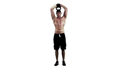 overhead kettlebell extension triceps