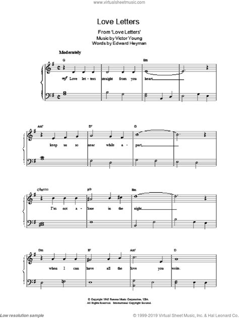 If you are having trouble linking to songs, or the notes pages are incomplete, it's not you ~ we are still working to rectify major software issues! Heyman - Love Letters sheet music for piano solo v2