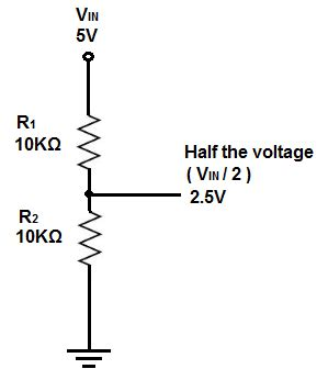 How Divide Voltage Half With Resistors