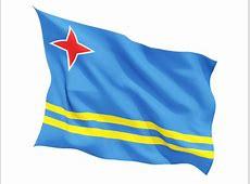 Fluttering flag Illustration of flag of Aruba