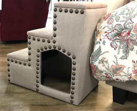 pet bed steps cubby  storage space living designs