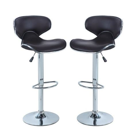 reparer tabouret de bar york lot de 2 tabourets de bar r 233 glables achat vente tabouret de bar marron structure en