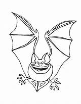 Coloring Pages Bat Bats Printable Halloween Scary Resolution Animal Smile Bestcoloringpagesforkids sketch template