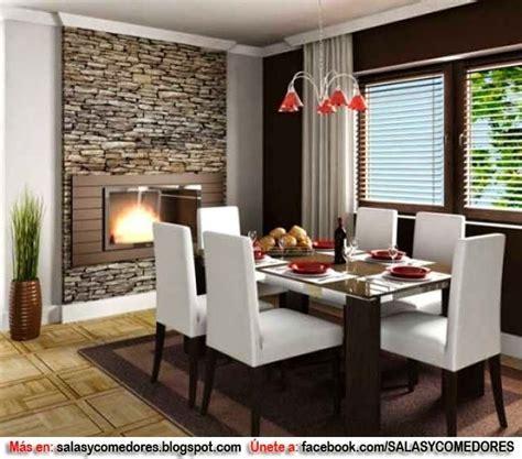 decoracion de comedor  chimenea dining room