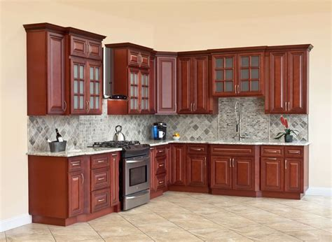 wood kitchen cabinets all solid wood kitchen cabinets cherryville 10x10 rta