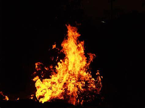 stock photo  burning dark fire