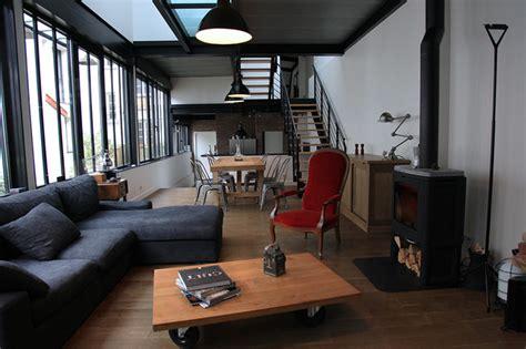 chambre loft atelier loft ouest parisien industriel salon