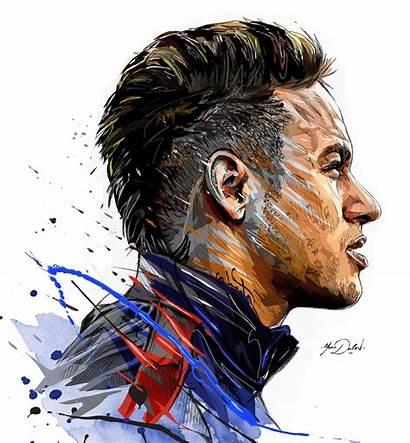 Neymar Psg Jr Drawing Yann Behance Dalon