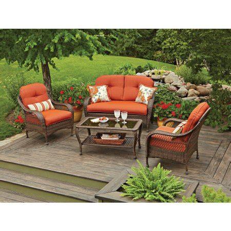 better homes and garden patio furniture better homes and gardens azalea ridge outdoor conversation set walmart com
